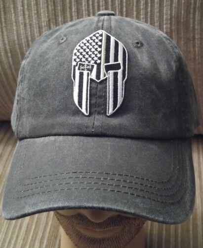 Thin Green Line Flag Spartan Helmet Light Black Pigmented Dy