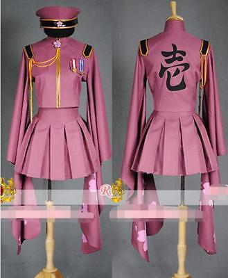 Hatsune Miku Kostüme (Vocaloid Hatsune Miku Senbonzakura Militär Uniform Cosplay Kostüm Outfit Ful Set)