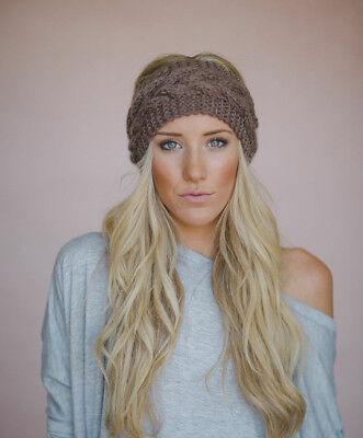 Fashion Women Crochet Headband Knit Flower Hairband Ear Warmer Winter Headwrap Flower Crochet Headband