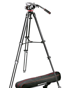 Manfrotto video tripod and fluid head. Brand new