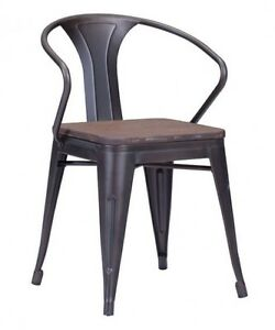 RESTAURANT INDUSTRIAL TOLIX STYLE METAL DINING CHAIR