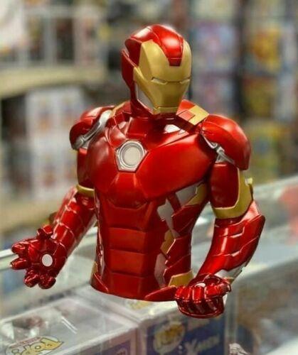 "Marvel Metallic Color Iron Man 8x7x5"" Coin/Bust Bank Christmas Birthday Gift"