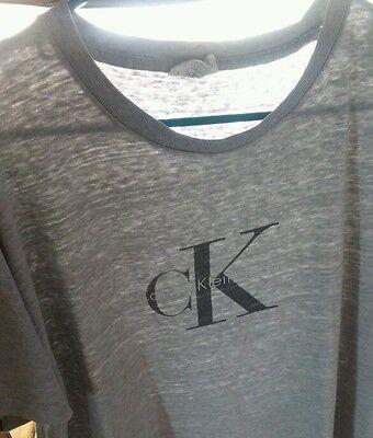 Vtg Distressed Worn Thin CALVIN KLEIN T shirt CK Manhattan NYC fashion 90s XL-L