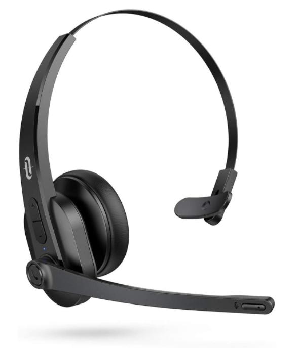 Bluetooth Headset mit Mikrofon für Computer Office Call Center bis 34h Spielzeit