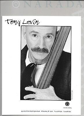 TONY LEVIN  2000 PRESS KIT + PHOTO