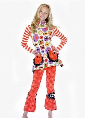 Pug Halloween Outfits (Girls 4 4T Jelly The Pug Boo-tiful Lexi  Knit Pants Top Halloween NEW NWT)