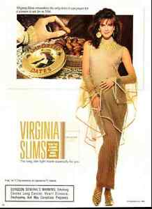 1990 vintage ad for Virginia Slims Cigarettes -188