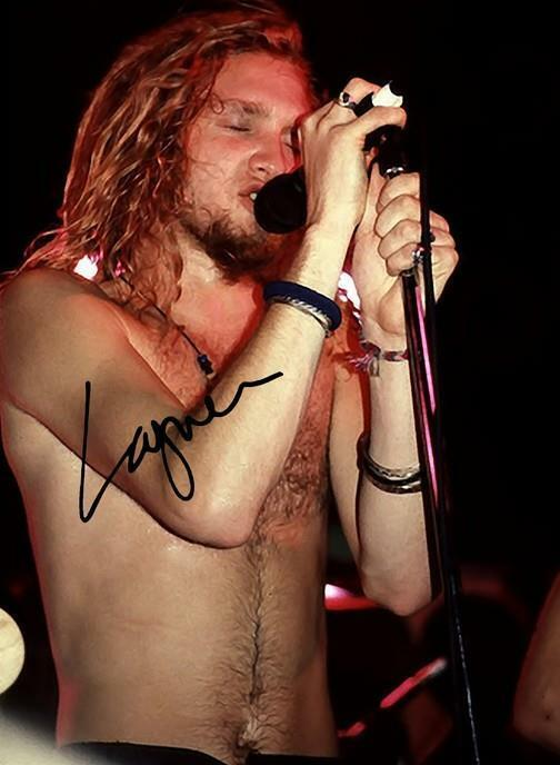 LAYNE STALEY SIGNED POSTER PHOTO 8X10 RP AUTOGRAPHED ALICE IN CHAINS