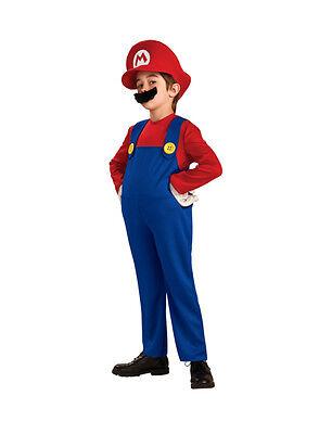 Super Mario Bros - Mario Deluxe Child Costume (Rubies Brand)](Baby Mario Costumes)