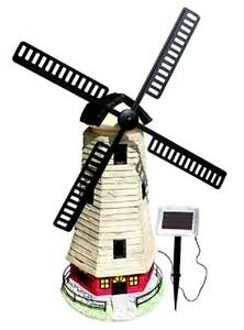 Large 90cm Garden Windmill Light House Solar Light 2 LEDs C5118W Athelstone Campbelltown Area Preview