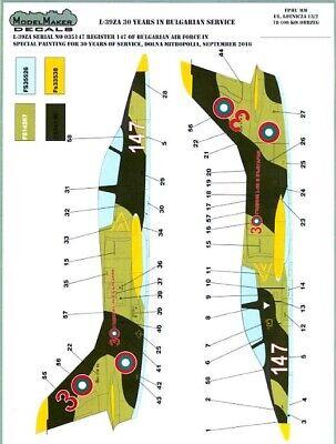 Model Maker Decals 1/72 AERO L-39ZA ALBATROS Bulgarian Air Force 30 Years for sale  USA