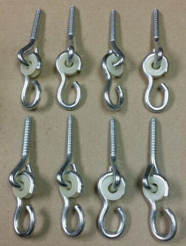 Lot of 8 New LAG SCREW SWING HANGERS, swingset swivel hook h