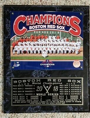 - Boston Red Sox 2018 World Series Champions Team Sit Down Plaque - 12