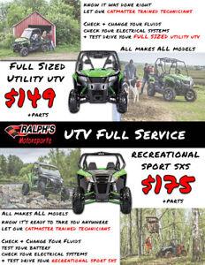UTV & SxS Full Service – Any Make Any Model – Starting At $149