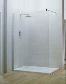 Shower screen for wet room etc.