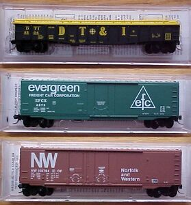 Model Train N scale railroad cars, Micro Tains, Atlas, CN, CP