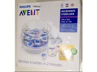 Avent microwave steriliser in original box.