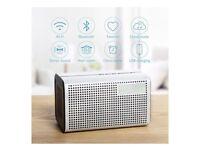 E3 ggmm wireless speaker with USB charging, clock and pasive radiator