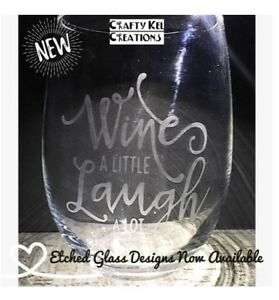 Custom Etched Design Glassware