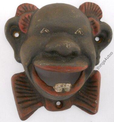 Black Face Americana Negro colored cast iron bottle opener #C2080