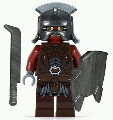 LEGO® Lord of the Rings Uruk Hai army minifigure & sword shield helmet Hobbit