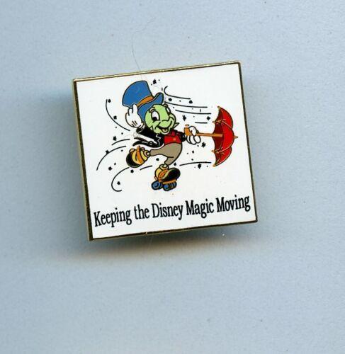 Disney Jiminy Cricket Keep Magic Moving Commuter Assistance Square Cast Pin
