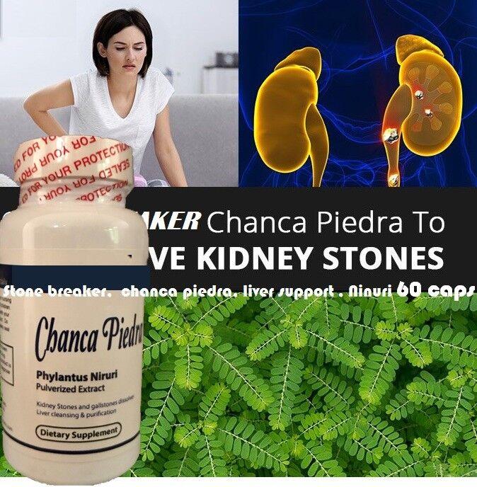 STONE BREAKER KIDNEY SUPPORT CHANCA PIEDRA Herbal liver Support  chancapiedra 60