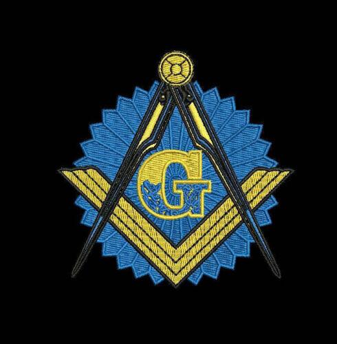 Mason Masonic Compass Personalized Full Zip Hoodie EMBROIDERED