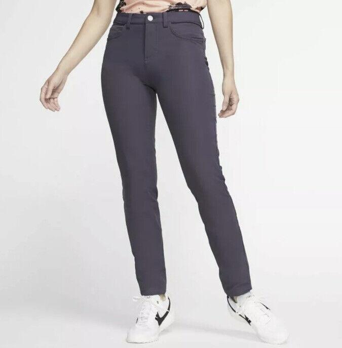 Womens Size 6 Nike Repel Slim Fit Golf Water Repellent Pants Purple AT3327-015
