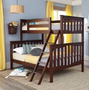 Used Twin over double bunk bed