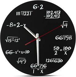 Decodyne Math Wall Clock - Unique Math Equations Perfect for Classroom/Home
