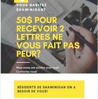 Recherche Adresse pour réception de 2 lettres à Shawinigan