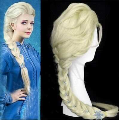 US Disney Movies Frozen Snow Elsa  None Lace Cosplay Wig Light Blonde