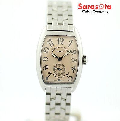 Franck Muller Casablanca 1750 S6 Salmon Dial Stainless Steel Women's Watch