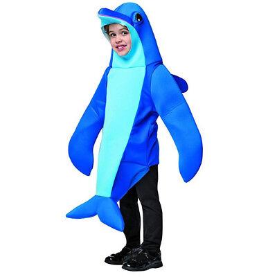 Rasta Imposta Kids Child Dolphin Costume - Size (4-6)