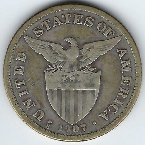 Philippines 1907-S 50 Centavos