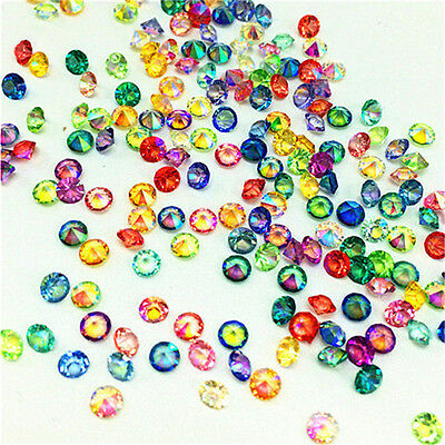 500/5000Pc iridescen Wedding Decoration Scatter Crystals Table Diamonds Confetti ()