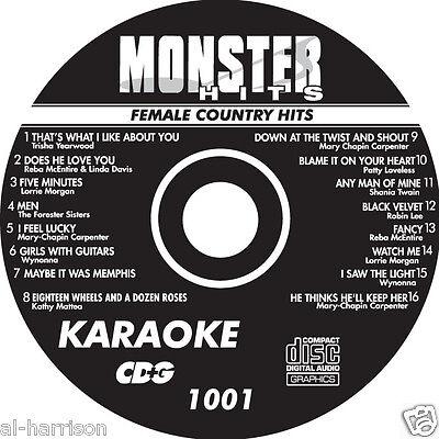 Karaoke Monster Hits Cd G Female Country  1001