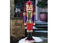 6ft (1.9m) Indoor/Outdoor Polyresin Christmas Nutcracker with 32 Coloured LED Lights