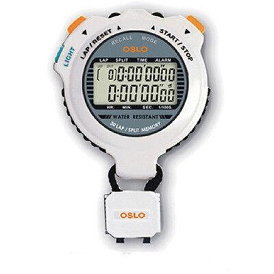 ROBIC OSLO SILVER STOPWATCH P/N 67734 30 LAP MEMORY RECALL AUTO COUNTER TO 99 (Oslo Counter)