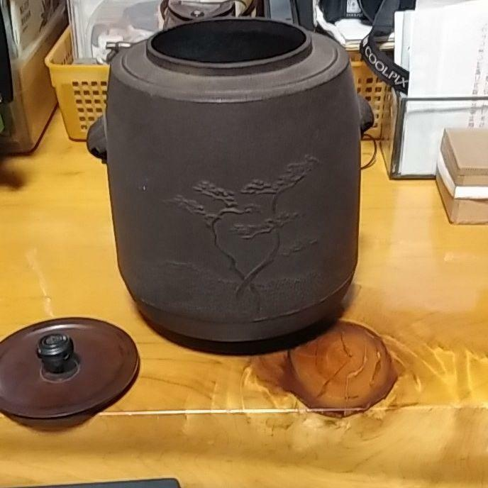 Chagama Kama Kettle Tea Ceremony Sado Japanese Traditional Crafts A-82