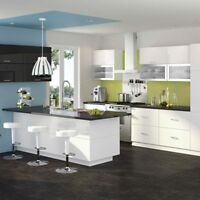Incredible kitchen, island, 2 bathrooms and 1/2 bath cabinetry