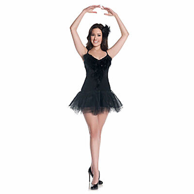 Mystery House Teen/Juniors Black Swan Costume Dress Style #J1208 Size Medium - Black Swan Costumes