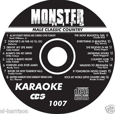 KARAOKE MONSTER HITS CD+G MALE CLASSIC COUNTRY  #1007