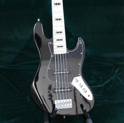 Starshine Stock 5 Strings JB Electric Bass Guitar Black Color Mape Fingerboard