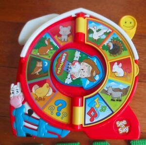 Little People see n' say musical animal toy