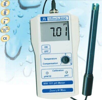 Milwaukee Mw101 Smart Portable Ph Meter Tester W Se220 Probe Solutions Sm101