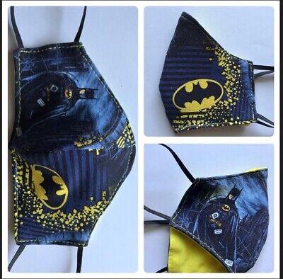 Mundschutzmasken für Kinder Jungen /Batman /100% Baumwolle