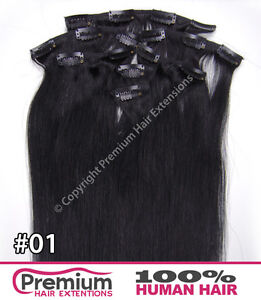 CLIP IN REMY 100% HUMAN HAIR EXTENSIONS, Full Head Set, Ready To Wear In Minutes