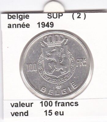 FB )pieces de 100 francs albert I 1949  belgie ( 2 )